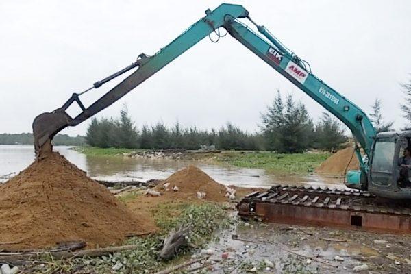 AM140 SK130 Amphibious Excavator